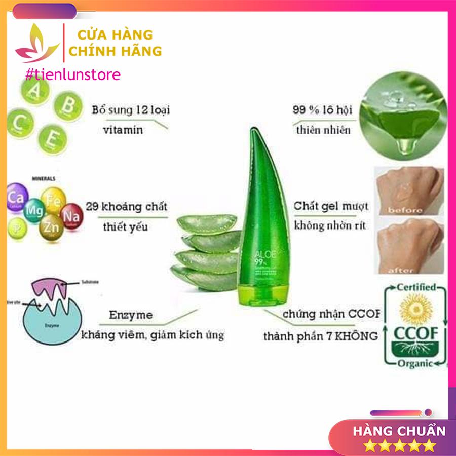 Gel dưỡng toàn thân chiết xuất lô hội 99% Holika Holika 250ml
